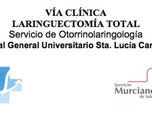 Vía clínia laringuectomía total